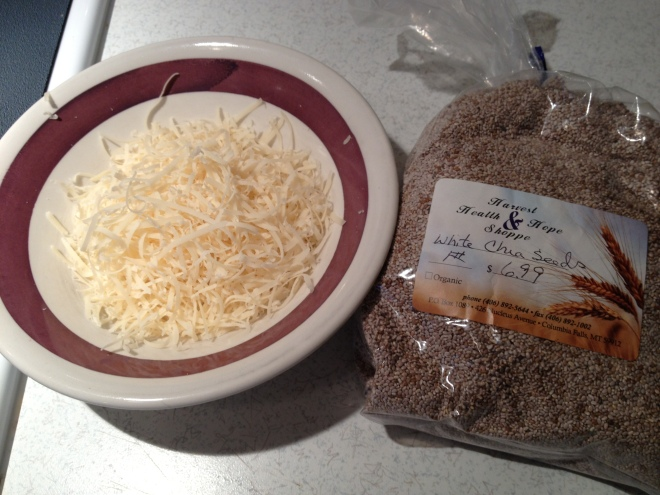 The parmesan and the chia seeds.